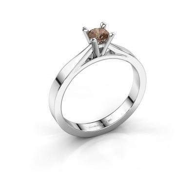 Foto van Aanzoeksring Catrina 925 zilver bruine diamant 0.25 crt