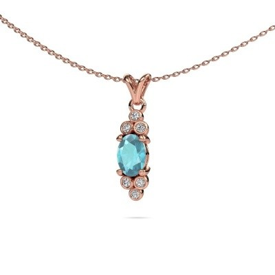 Picture of Pendant Lucy 2 585 rose gold blue topaz 7x5 mm