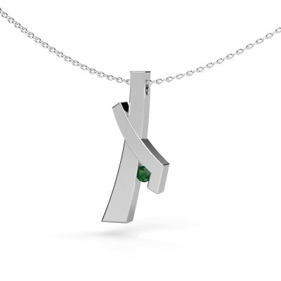 Picture of Pendant Alyssa 585 white gold emerald 2.7 mm