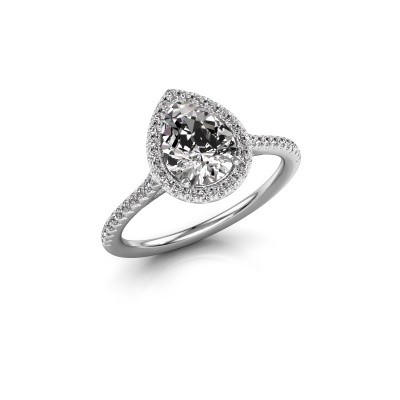 Picture of Engagement ring Monique 2 585 white gold diamond 1.245 crt