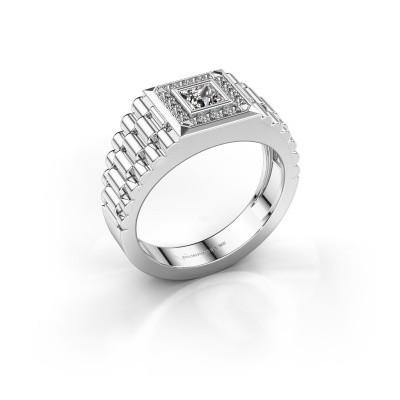 Foto van Rolex stijl ring Zilan 950 platina zirkonia 4 mm