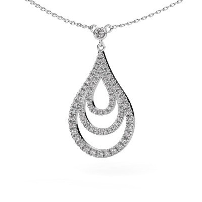 Picture of Pendant Delpha 585 white gold diamond 0.487 crt