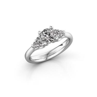 Foto van Verlovingsring Monika RND 585 witgoud diamant 0.80 crt