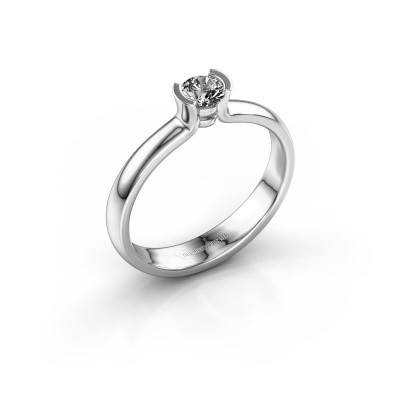Foto van Verlovingsring Ophelia 585 witgoud diamant 0.25 crt
