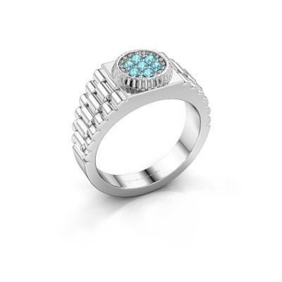 Foto van Rolex stijl ring Nout 925 zilver blauw topaas 2 mm