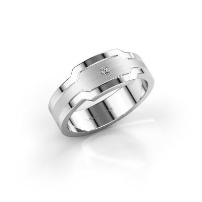 Foto van Heren ring Guido 950 platina zirkonia 2 mm