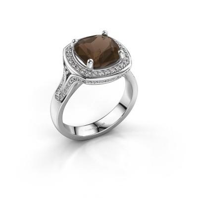 Picture of Ring Lili 585 white gold smokey quartz 9 mm