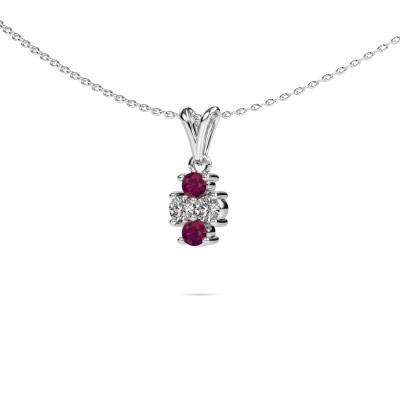 Picture of Necklace Richelle 950 platinum rhodolite 3 mm