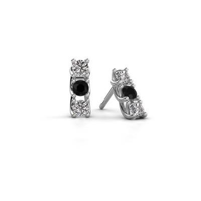 Picture of Earrings Fenna 925 silver black diamond 0.64 crt