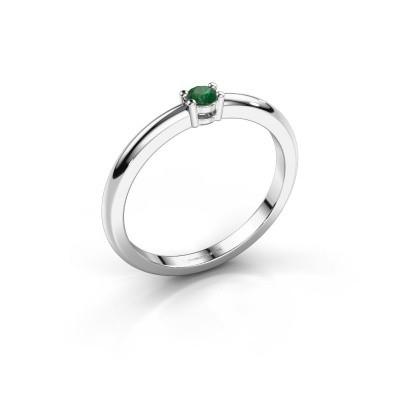 Foto van Verlovingsring Michelle 1 585 witgoud smaragd 2.7 mm