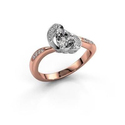 Foto van Ring Jonelle 585 rosé goud zirkonia 7x5 mm