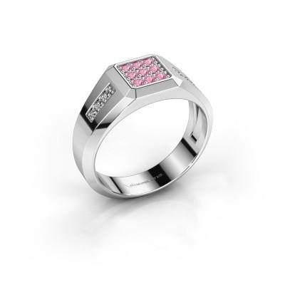 Foto van Pinkring Bas 925 zilver roze saffier 1.7 mm