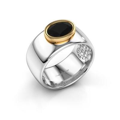 Foto van Ring Anouschka 585 witgoud zwarte diamant 1.380 crt