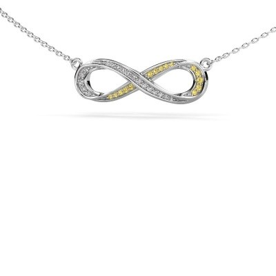 Picture of Necklace Infinity 2 925 silver yellow sapphire 0.8 mm