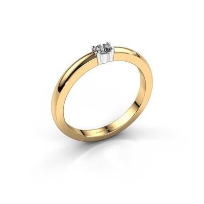 Foto van Promise ring Yasmin 1 585 goud zirkonia 2.7 mm