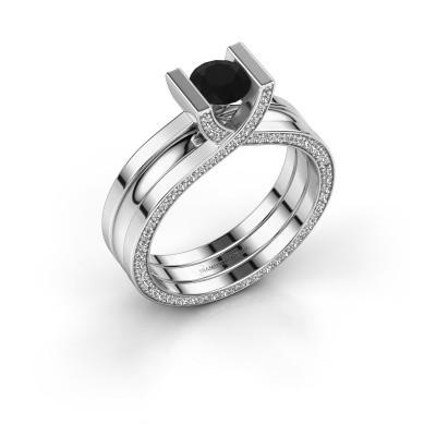Bild von Ring Kenisha 585 Weissgold Schwarz Diamant 1.18 crt