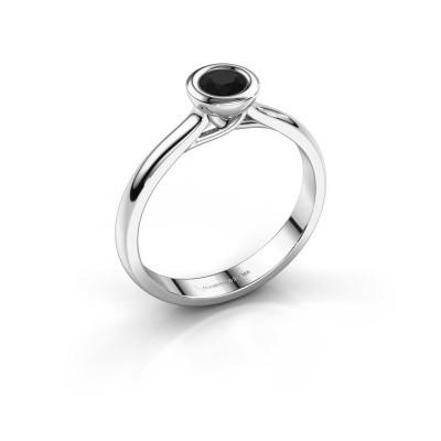 Foto van Verlovings ring Kaylee 585 witgoud zwarte diamant 0.30 crt