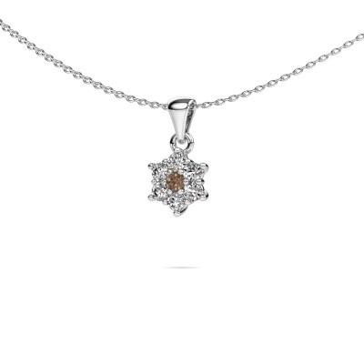 Picture of Necklace Chantal 950 platinum brown diamond 0.385 crt