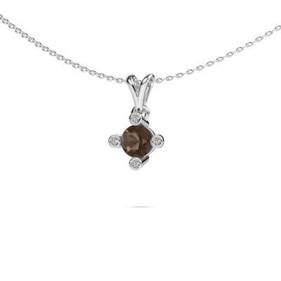 Picture of Pendant Cornelia Round 925 silver smokey quartz 5.5 mm