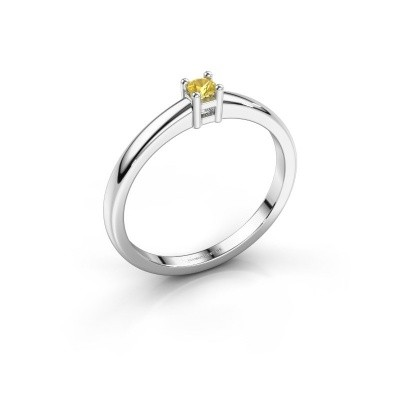 Foto van Promise ring Eline 1 925 zilver gele saffier 3 mm