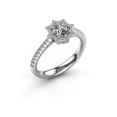 Picture of Engagement ring Zena 585 white gold diamond 0.730 crt