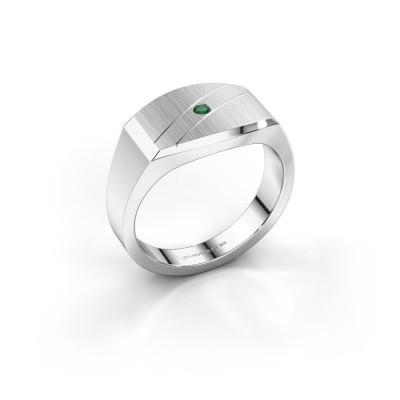 Foto van Heren ring Joe 3 925 zilver smaragd 2 mm