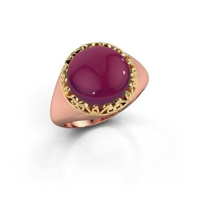 Foto van Ring Birgit 585 rosé goud rhodoliet 12 mm