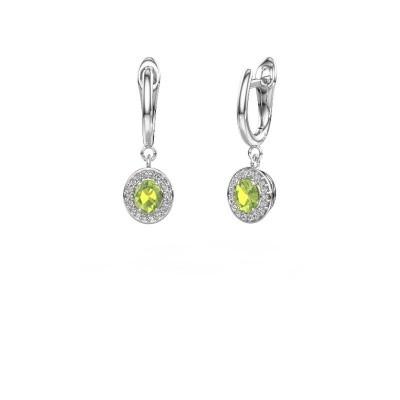 Picture of Drop earrings Nakita 950 platinum peridot 5x4 mm