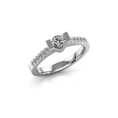 Verlovingsring Sherley 2 585 witgoud diamant 0.43 crt