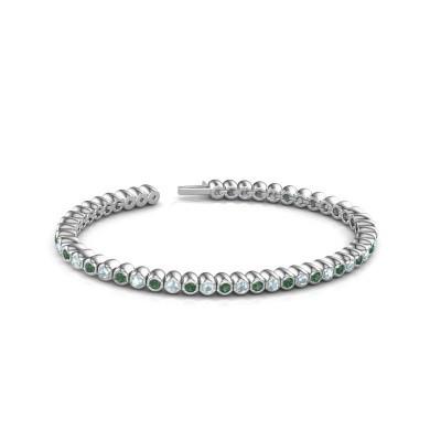Foto van Tennisarmband Patrica 585 witgoud smaragd 2.4 mm