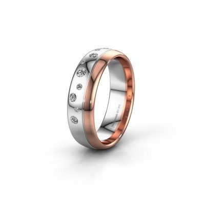 Trouwring WH0317L36AP 585 witgoud diamant ±6x1.7 mm