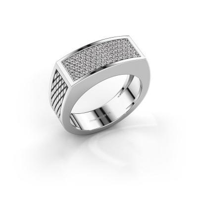 Foto van Heren ring Erwin 950 platina zirkonia 1.2 mm