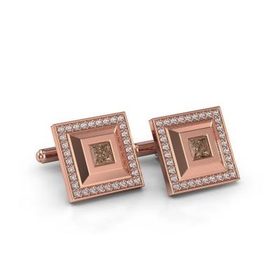 Foto van Manchetknopen Joris 750 rosé goud bruine diamant 1.06 crt