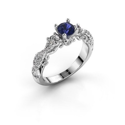 Picture of Engagement ring Kourtney 585 white gold sapphire 5 mm