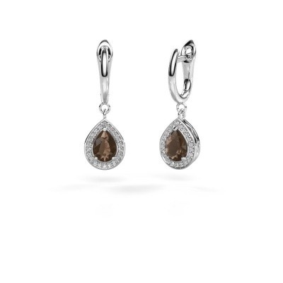 Picture of Drop earrings Ginger 1 925 silver smokey quartz 7x5 mm