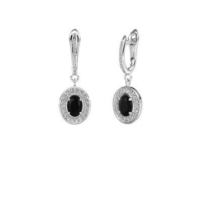 Picture of Drop earrings Layne 2 925 silver black diamond 2.31 crt