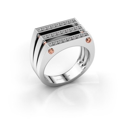 Foto van Heren ring Jauke 585 witgoud diamant 0.48 crt