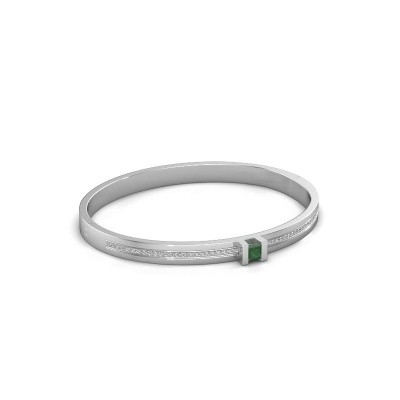 Foto van Armband Desire 585 witgoud smaragd 4 mm