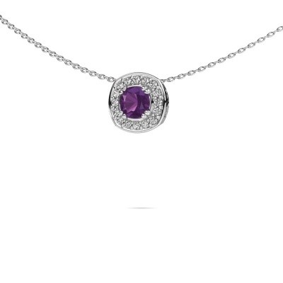 Picture of Necklace Carolina 925 silver amethyst 5 mm
