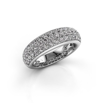 Foto van Ring Emely 8 585 witgoud diamant 1.316 crt