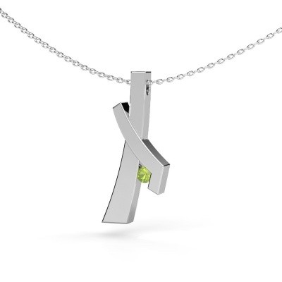 Picture of Pendant Alyssa 585 white gold peridot 2.7 mm