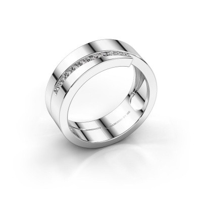 Foto van Ring Loma 585 witgoud zirkonia 1.5 mm