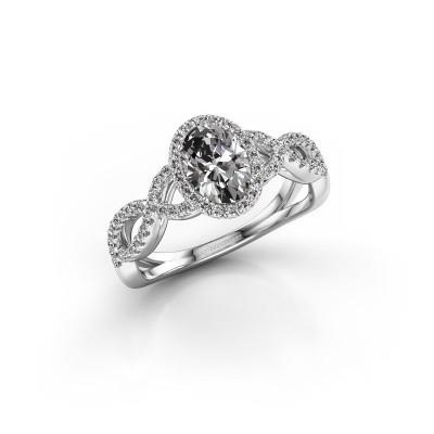 Foto van Verlovingsring Tanesha 585 witgoud diamant 1.13 crt