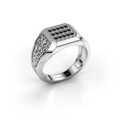 Foto van Heren ring Amir 925 zilver zwarte diamant 0.504 crt