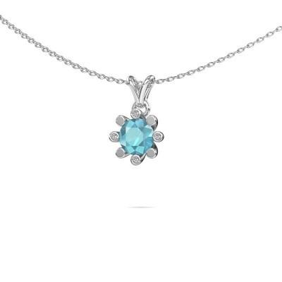 Picture of Pendant Carola 2 950 platinum blue topaz 6 mm