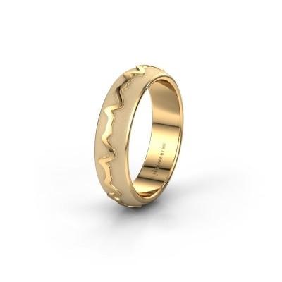 Trouwring Heartbeat 1 585 goud ±5x2 mm