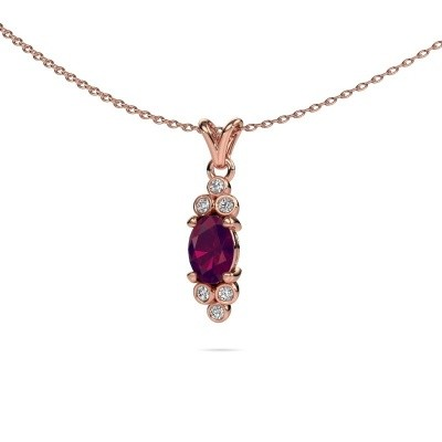 Picture of Pendant Lucy 2 585 rose gold rhodolite 7x5 mm