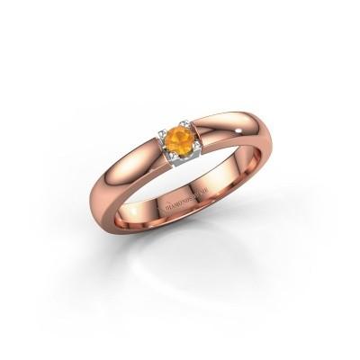 Foto van Verlovingsring Rianne 1 585 rosé goud citrien 3 mm