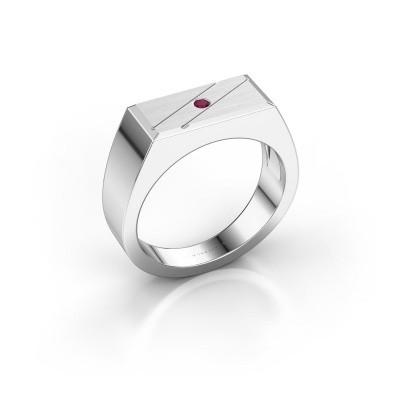 Foto van Heren ring Dree 3 925 zilver rhodoliet 2 mm