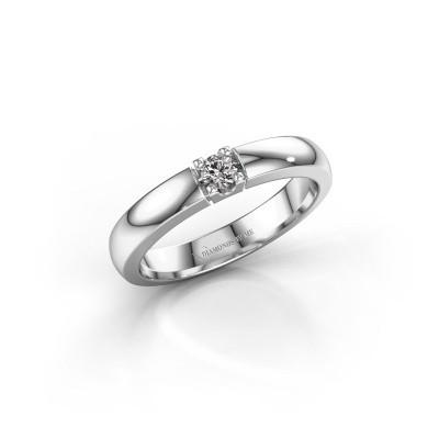 Foto van Verlovingsring Rianne 1 585 witgoud diamant 0.10 crt